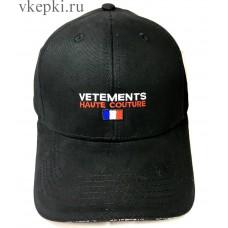 Кепка Vetemens черная арт. 2259