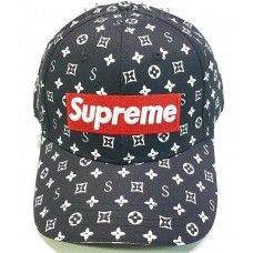 Кепка Supreme X Louis Vuitton черная арт.1735