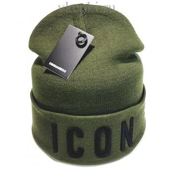 Шапка Dsquared2 Icon темно-зеленого цвета