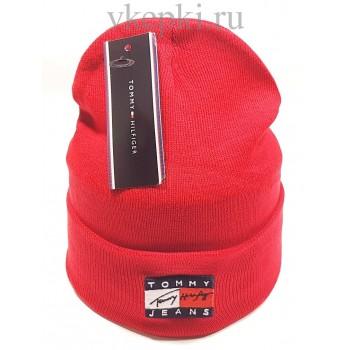 Шапка Tommy Hilfiger красного цвета