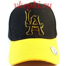 Кепка LA черная с желтым арт.279