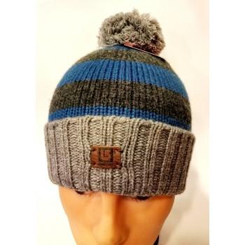 Вязанная шапка мужская серого цвета Burton