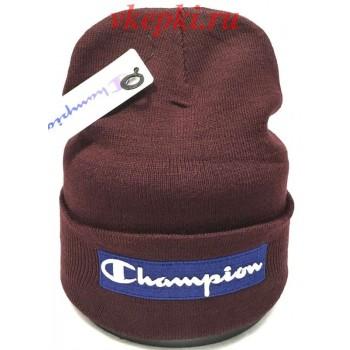 Шапка Champion бордовый цвет