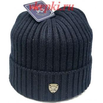 Зимняя шапка Paul & Shark синего цвета