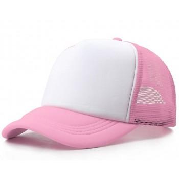 Розовая кепка с сеткой
