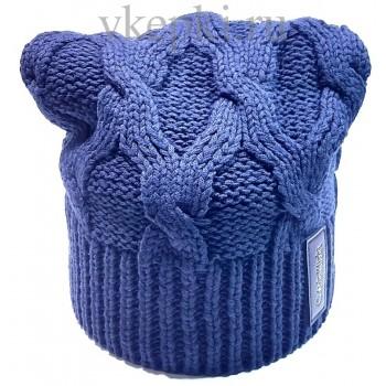 Шапка Calvin Klein синего цвета