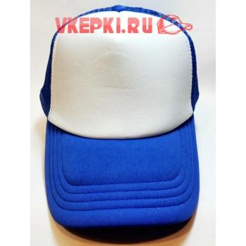 Бейсболка без надписей голубого цвета
