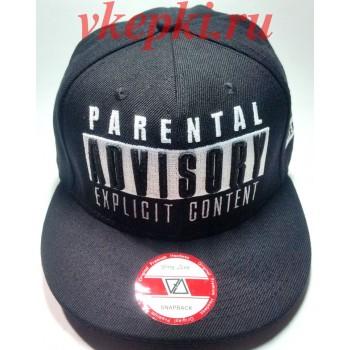Кепка Parental advisory explicit content черная