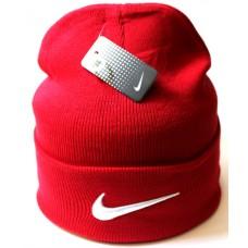 Шапка Nike красная арт.1037