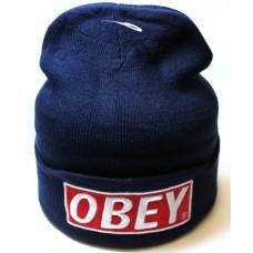 Шапка OBEY синяя арт.1074