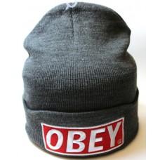 Шапка OBEY серая арт.1076