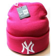 Шапка New York розовая арт.1085