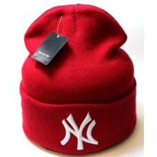 Шапка New York красная арт.1089