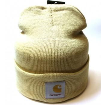 Carhartt шапка бежевого цвета