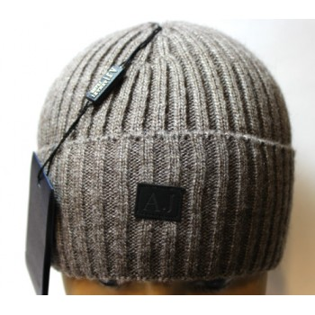 Мужская зимняя шапка Armani Jeans с отворотом с доставкой по Москве и всей России.