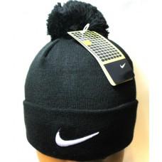 Шапка Nike с помпоном черная арт.1122