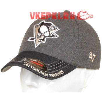 Бейсболка Pittsburgh Penguins серая