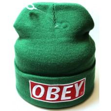 Шапка OBEY зеленая арт.1075