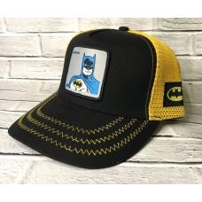 Кепка с сеткой Batman Черный с желтым арт. 4152