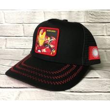 Кепка с сеткой Iron man Черный арт. 4180