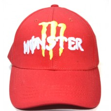 Кепка Monster красного цвета арт.904