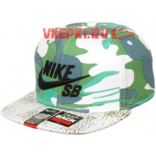 Кепка Nike бело-зеленая арт.1333